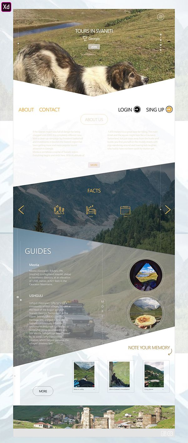 Travel Page Web on Behance Travel