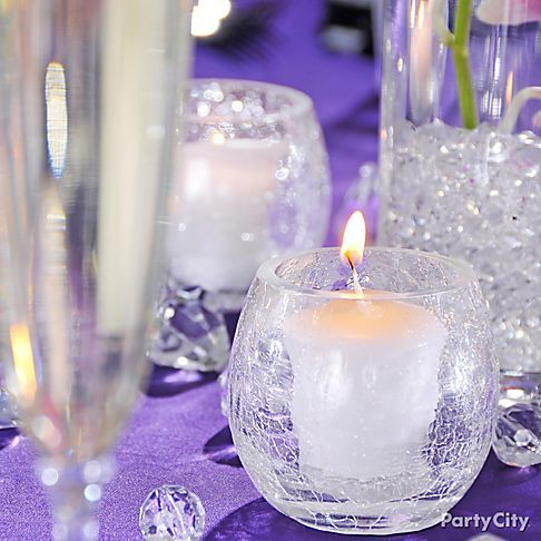 Dramatic Purple Engagement Party Decoration Ideas Party City Engagement Party Decorations Engagement Party Bridal Shower Candle