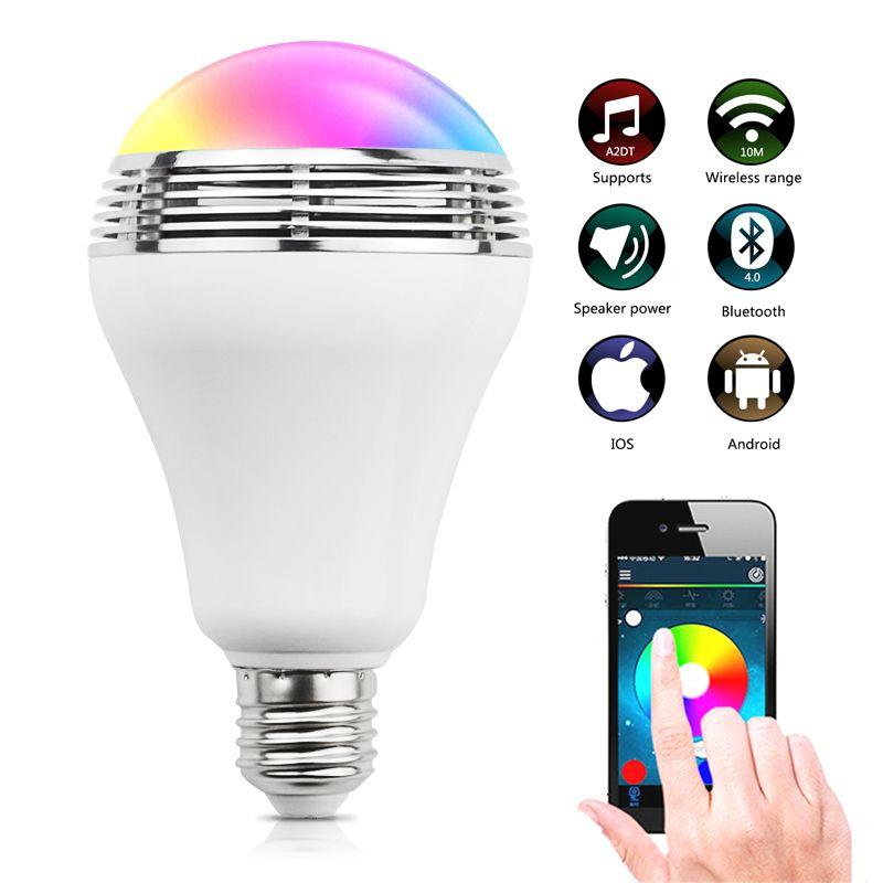 UYG Wireless LED Bluetooth Speaker Smart E27 light Bulb Lamp