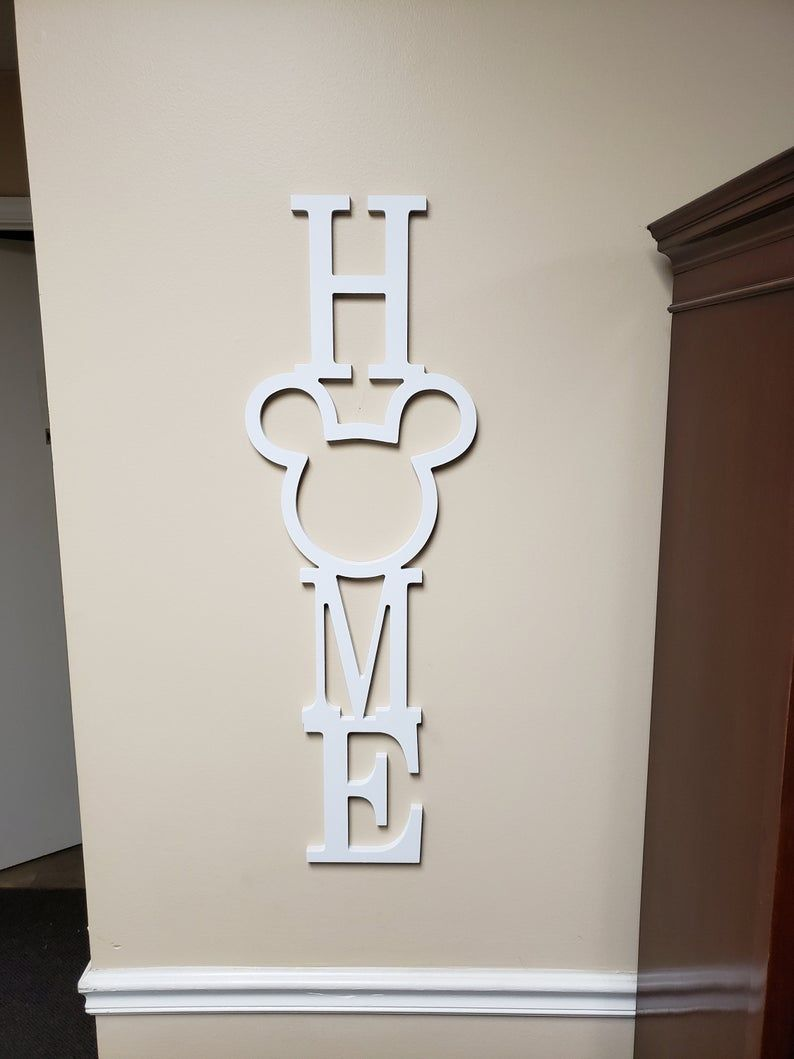 Wood Mickey Home Sign Disney Gallery Wall Decor