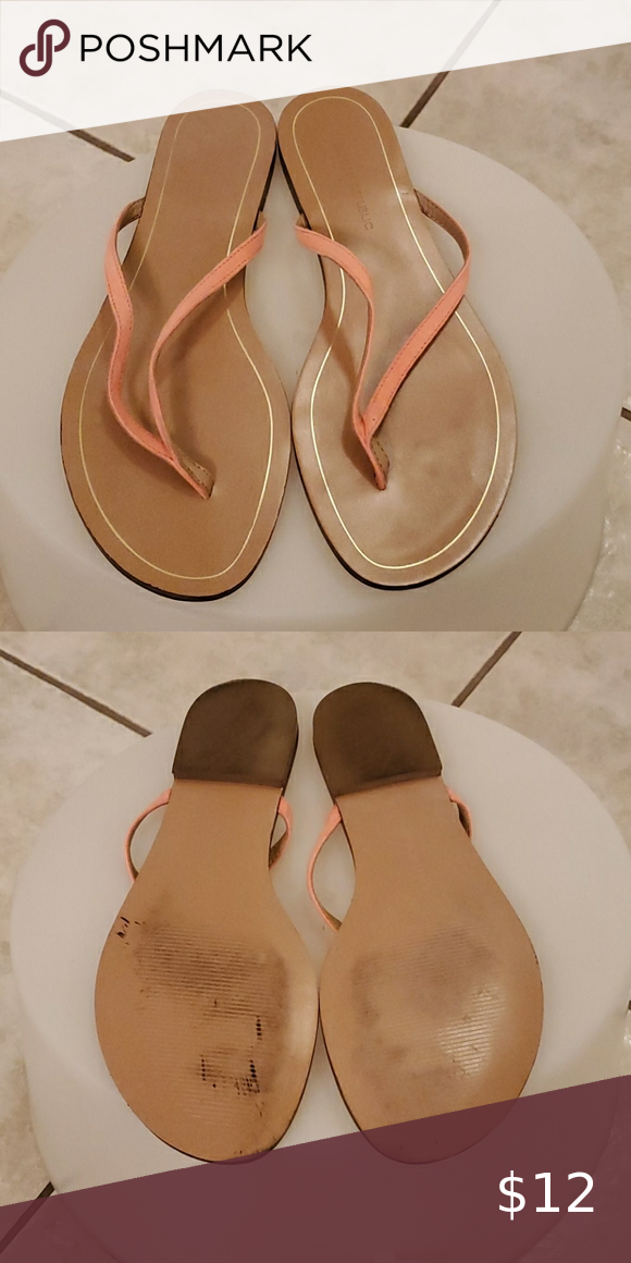 coral suede sandals