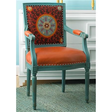 Suzani Arm Chair Via Shades Of Light Embroidered