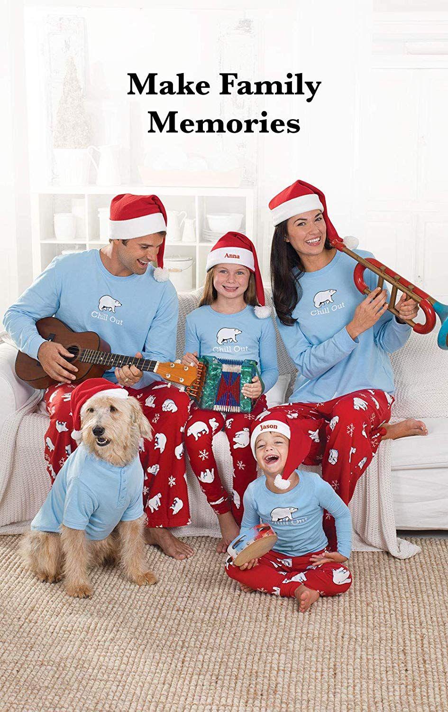 Family Christmas Pajamas Blue.Amazon Com Pajamagram Family Pajamas Chill Out Family