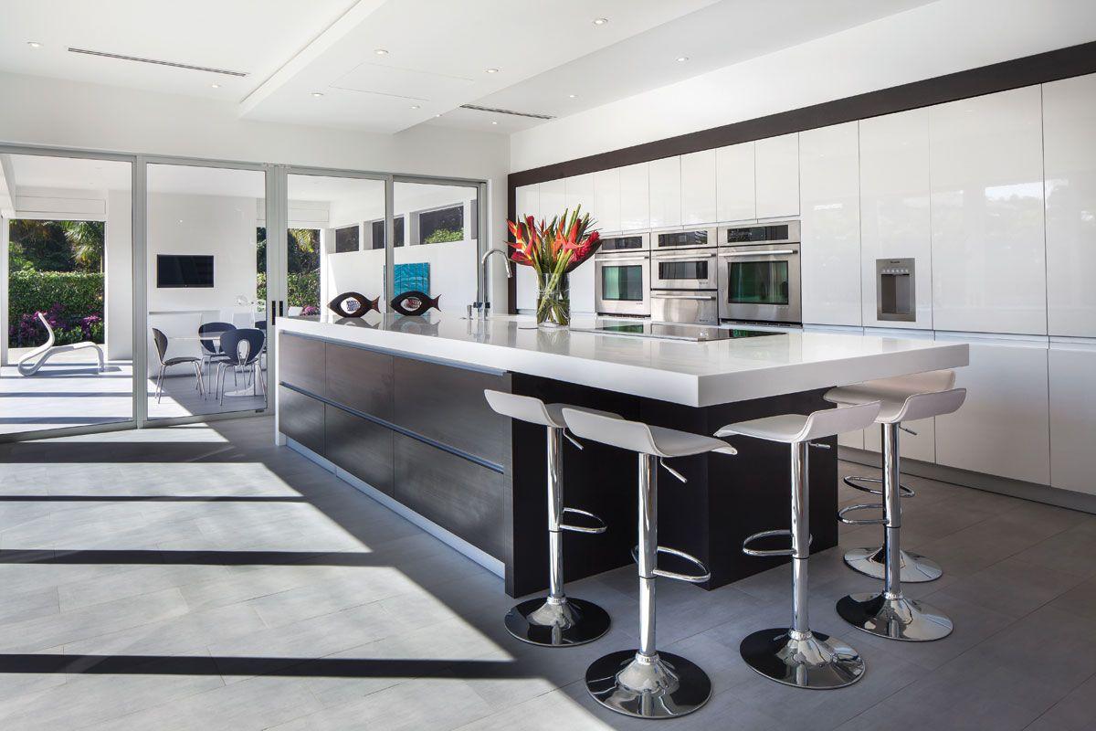 Home florida design sleek kitchen wood floors wide