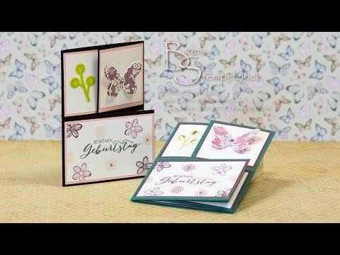 Tri Fold Card | Triangle Tri Fold Card Dreifach Gefaltete Dreieckskarte Mit