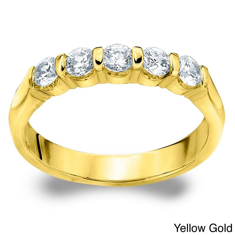 Amore 14k White or Gold 1/2ct TDW Diamond Wedding Band