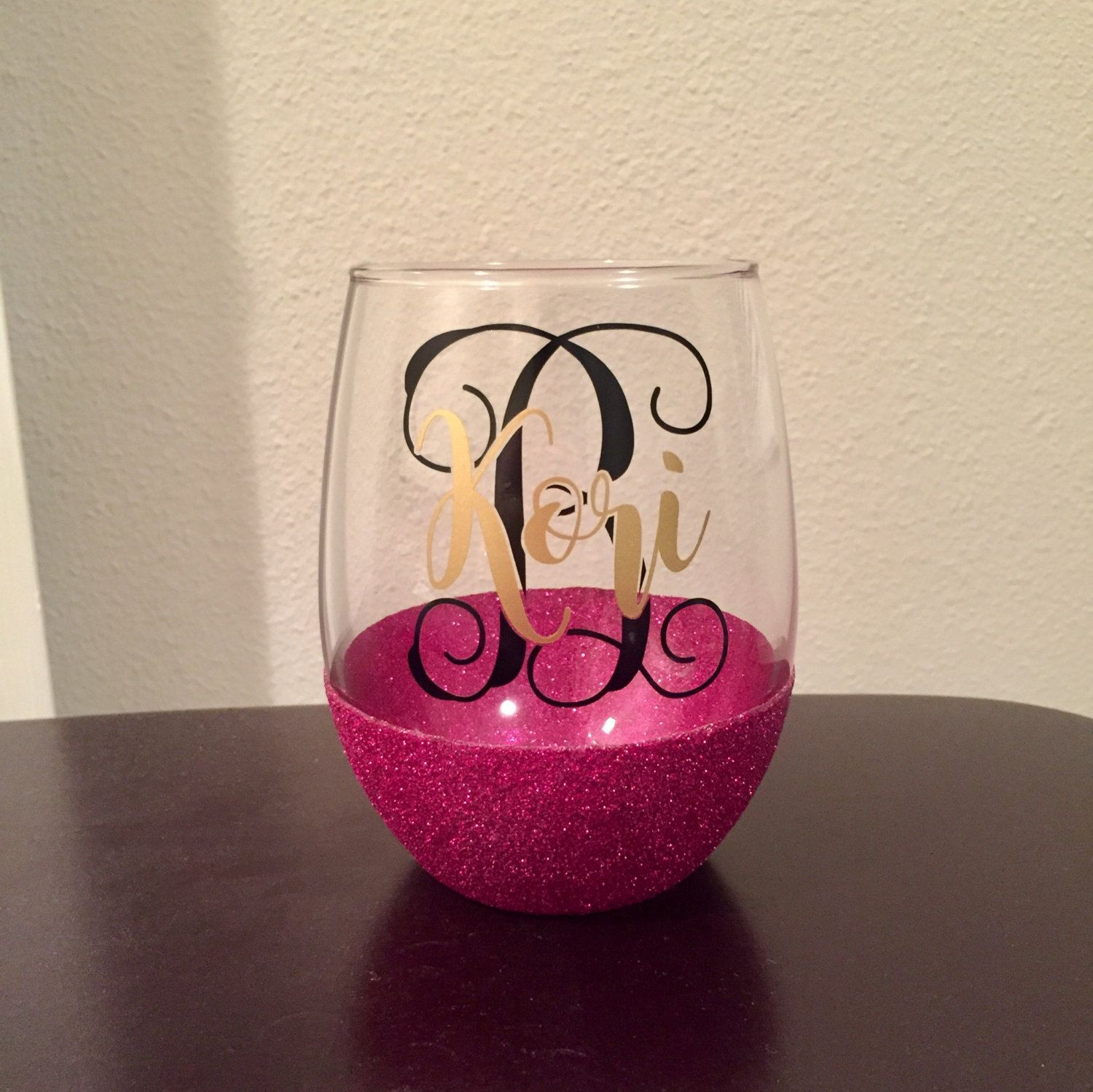 Nameinitial glitter dipped stemless wine glass 20 oz by nameinitial glitter dipped stemless wine glass 20 oz by countyroadcustoms on etsy floridaeventfo Gallery