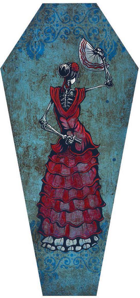 Flamenco Peligroso Coffin Canvas Giclee By David Lozeau David Lozeau Canvas Giclee Stretch Canvas