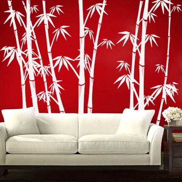 living room wall stencils bamboo wall living room craft ideas 15796