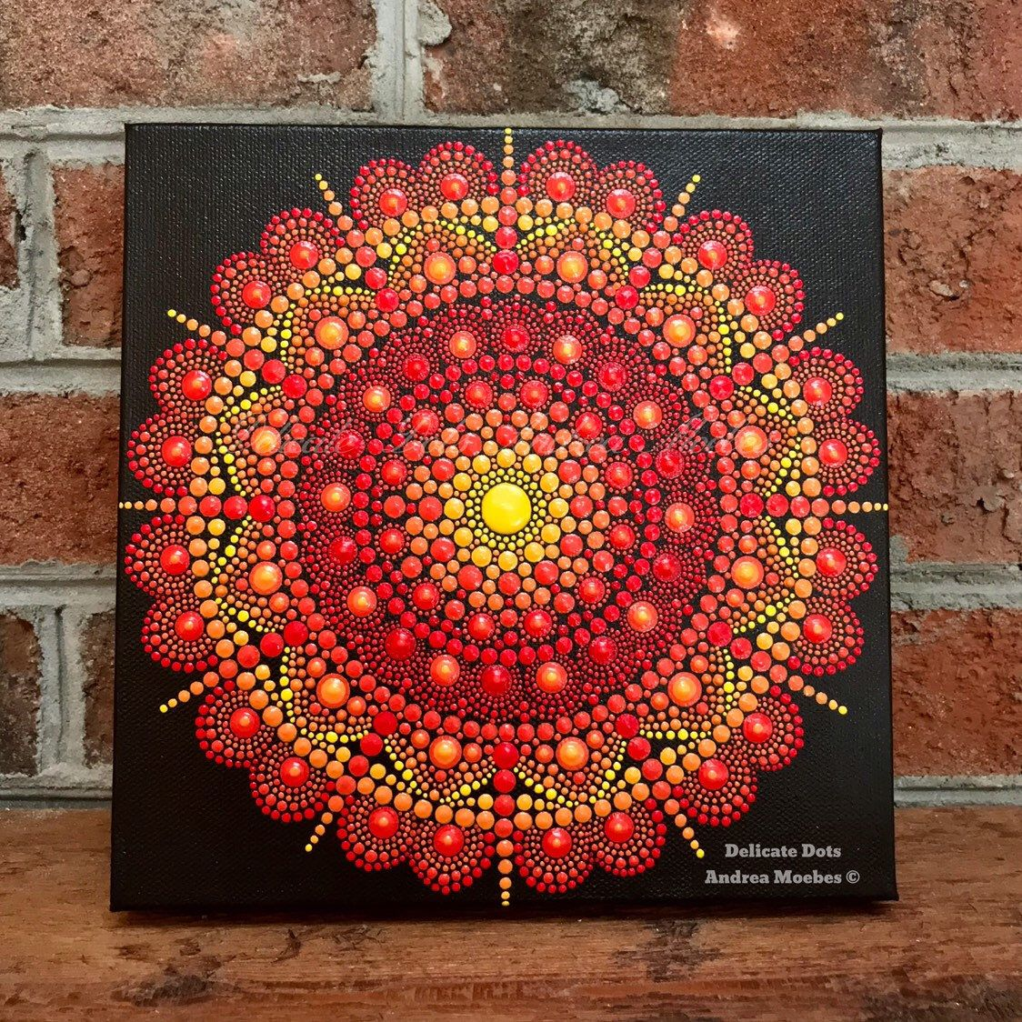 Dot Mandala Canvas painting meditation art dot art mandala | Etsy