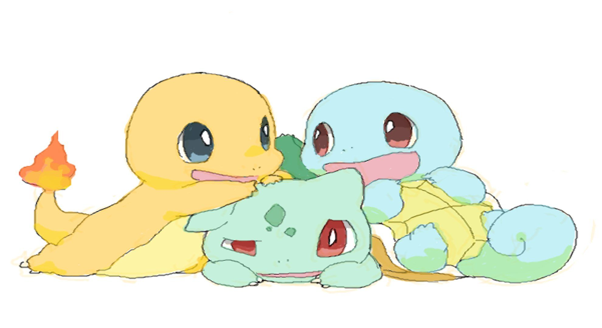 And Squirtle Bulbasaur Charmander Cute Pokemon Squirtle