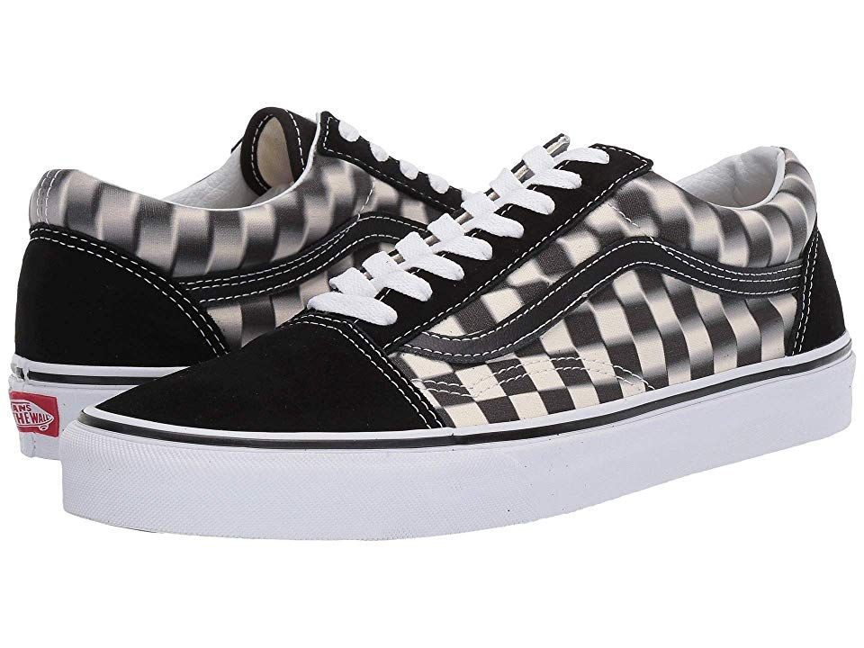 Vans Old Skooltm Skate Shoes (Blur Check) BlackClassic