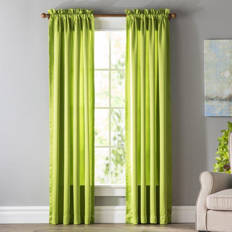 Wayfair Basics Solid Color Room Darkening Rod Pocket Single Curtain Panel Curtains Panel Curtains Colorful Curtains
