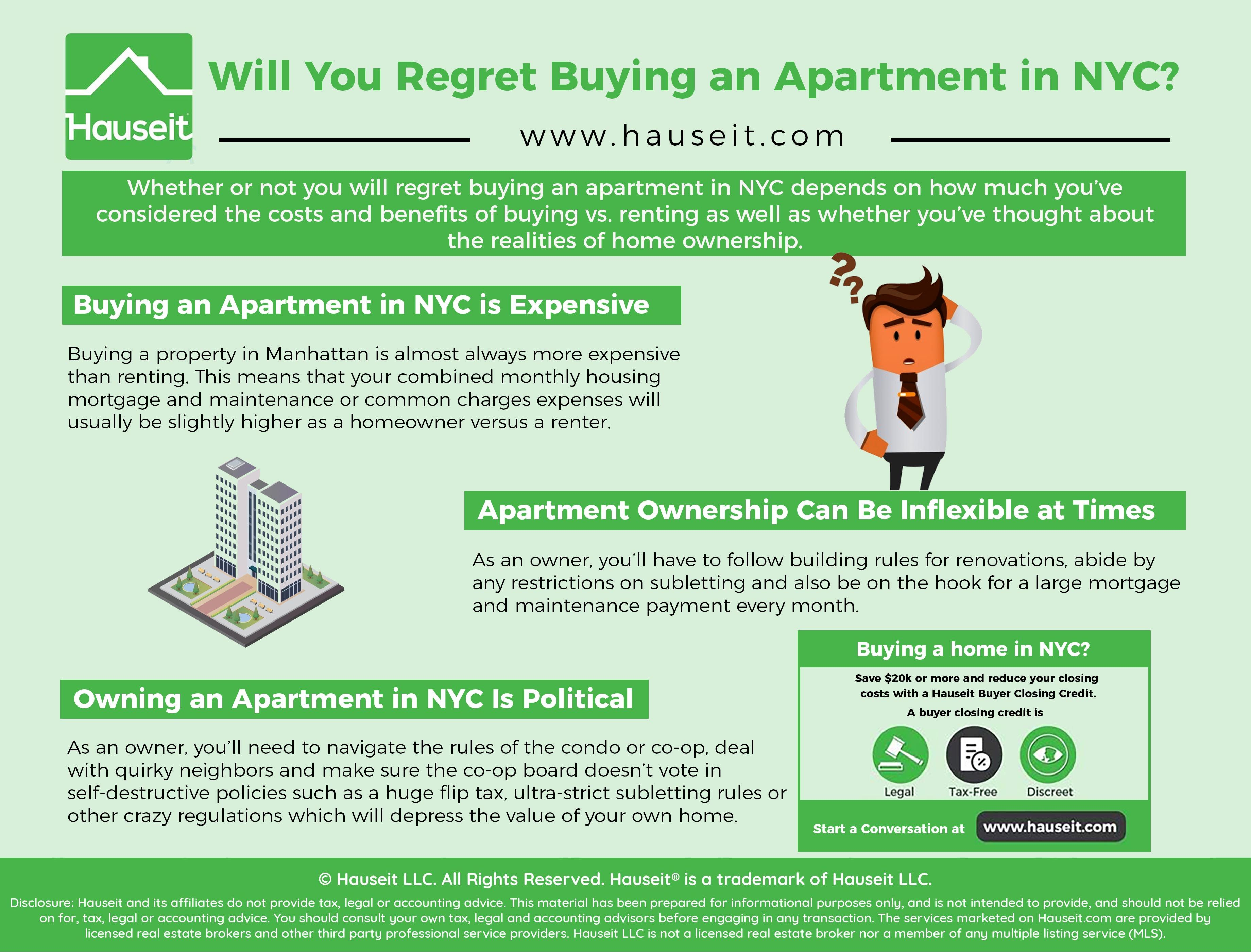 Regrets Buying An Apartment Nyc Buying A Condo Nyc Nyc Apartment