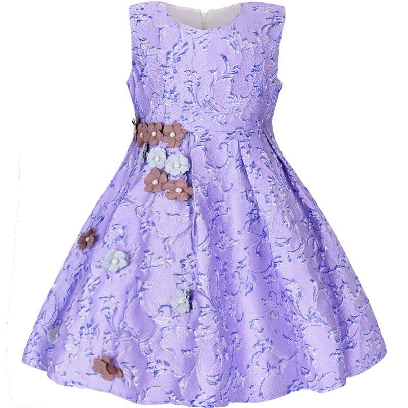 Baby Girls Dress Kids fancy Embroidery Floral Dress Costume For Girls Princesse Elegant Kids ...
