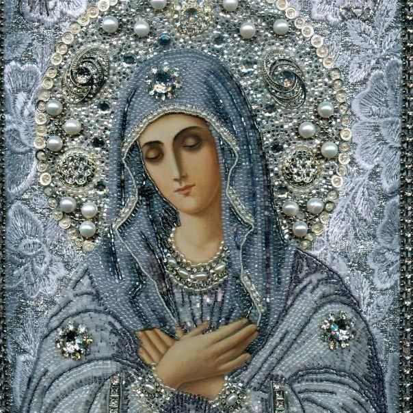 A beautiful Russian Orthodox icon of our Lady
