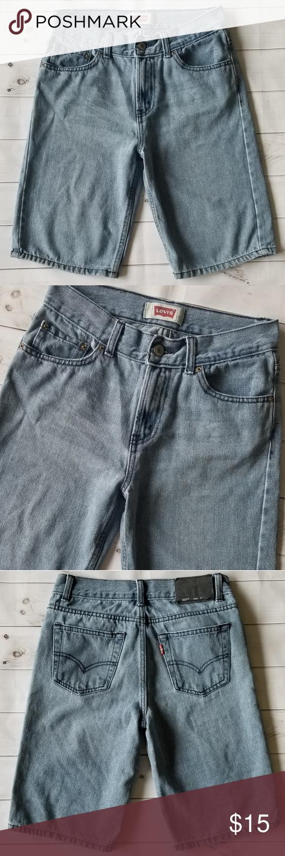 42606031 Levi's 505 Light Wash Denim Jean Shorts VVGUC! Very minimal ww! Super nice  Levi's
