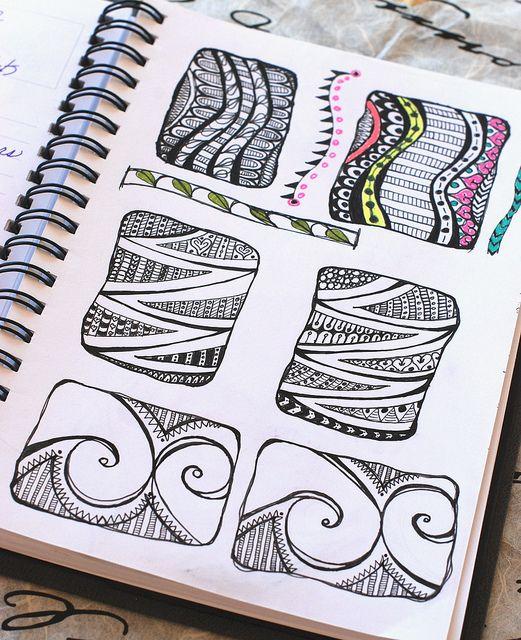 Art Journal - Zenspirations Pattern Blocks by Pink Palindrome, via Flickr