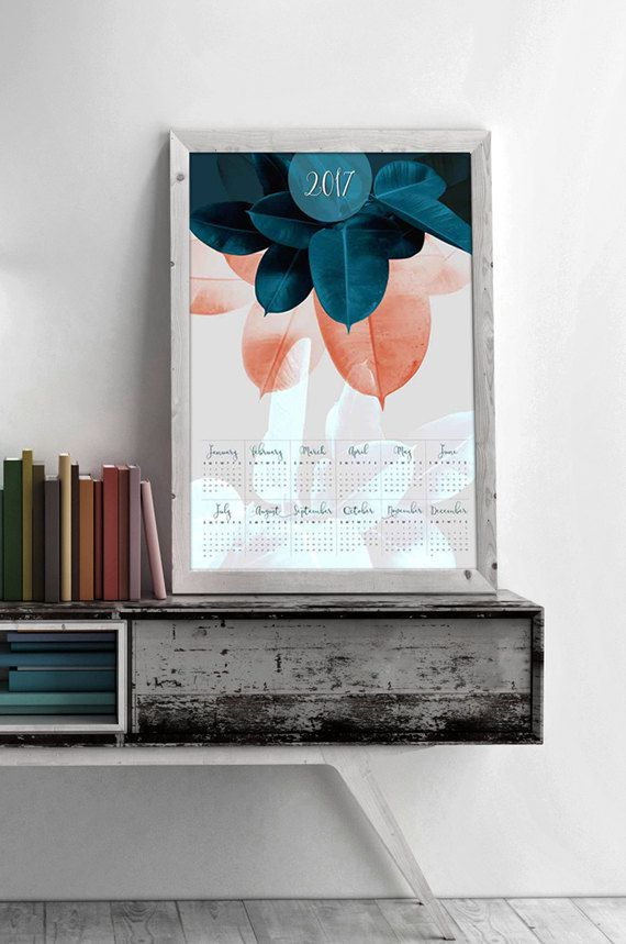 Large Yearly Wall Calendar 2017 by #PrintsProject