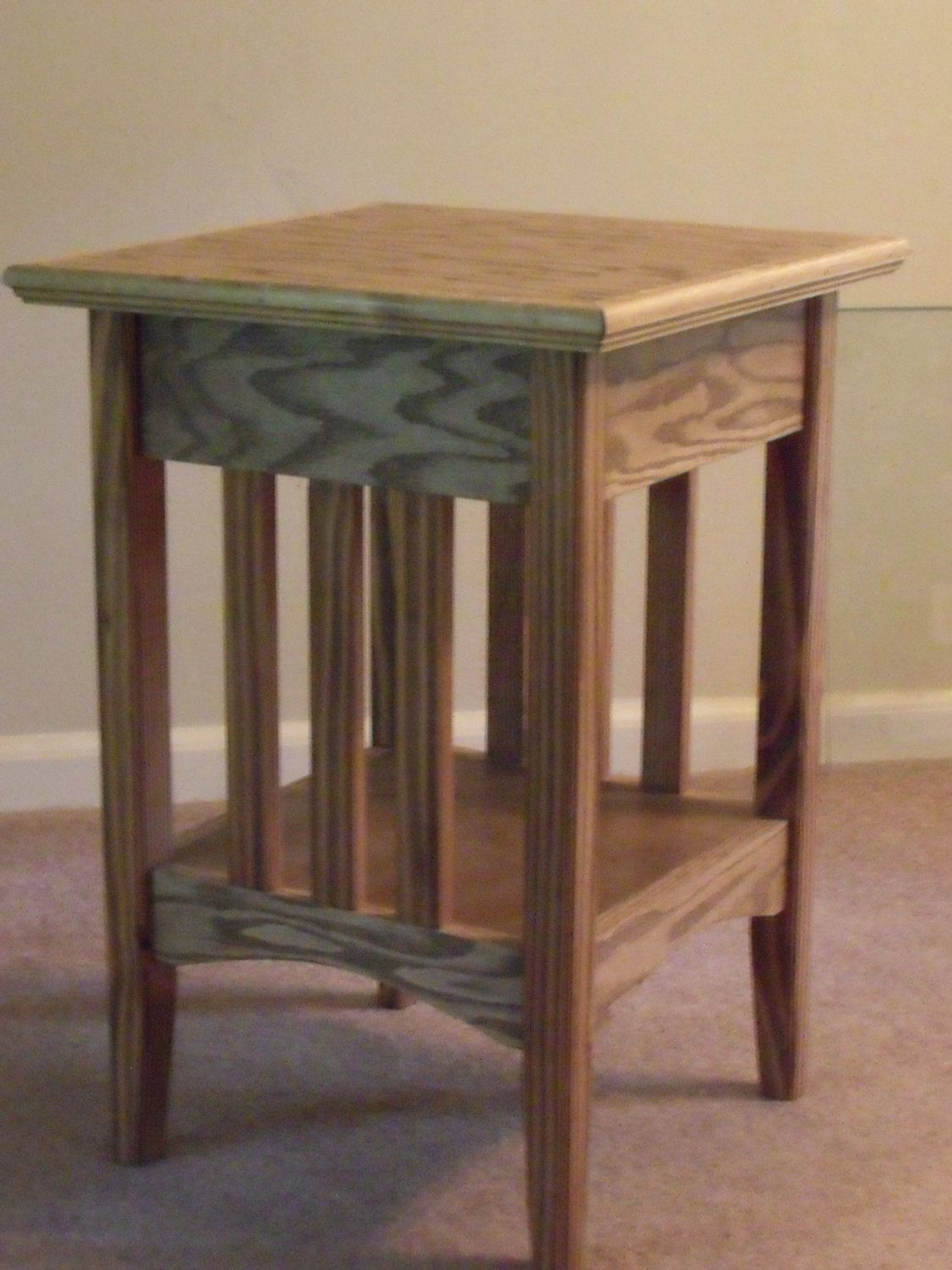 Mission Style End Table Walnut Stained Urathaned By Woodncrafter 60 00 Mission Style End Tables End Tables Table