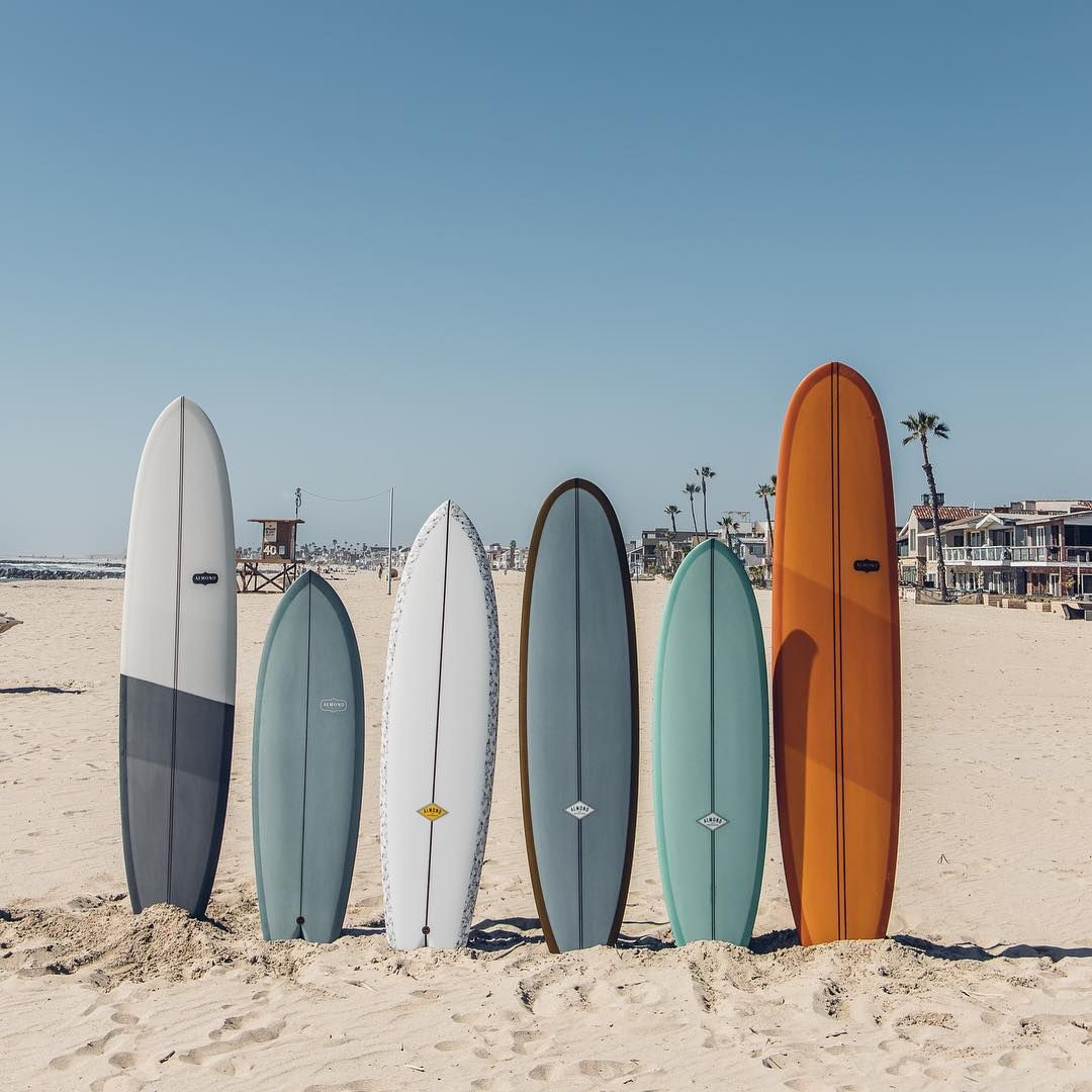 Almond Surfboards On Instagram Something Big Is In The Works One Of These 6 Models Will Be The Next R Series Sur Surfboard Beach Wall Collage Surfing Waves