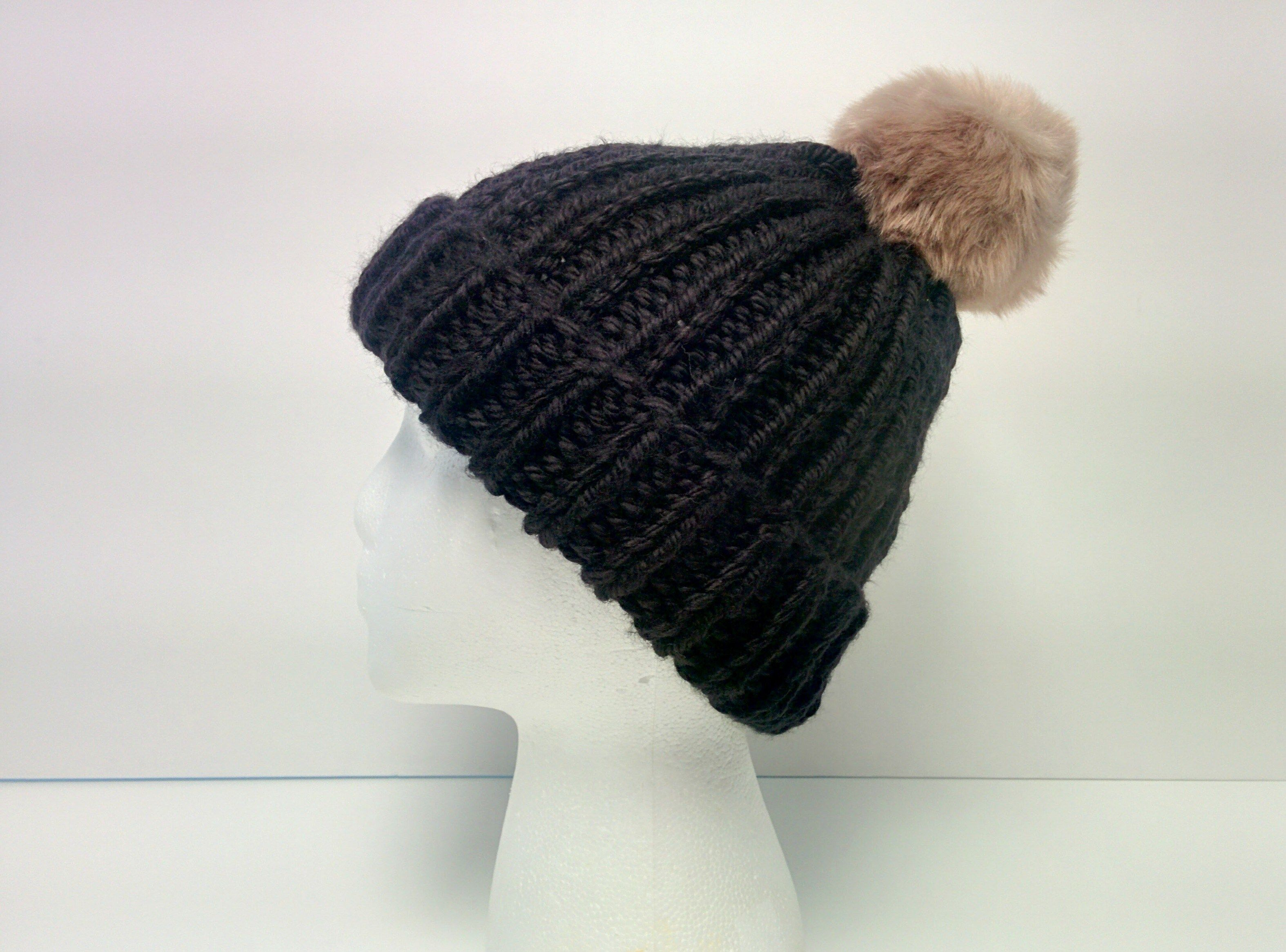 Free Pattern: 1-Hour Ribbed Knit Beanie   Yarns, Patterns and Knit ...