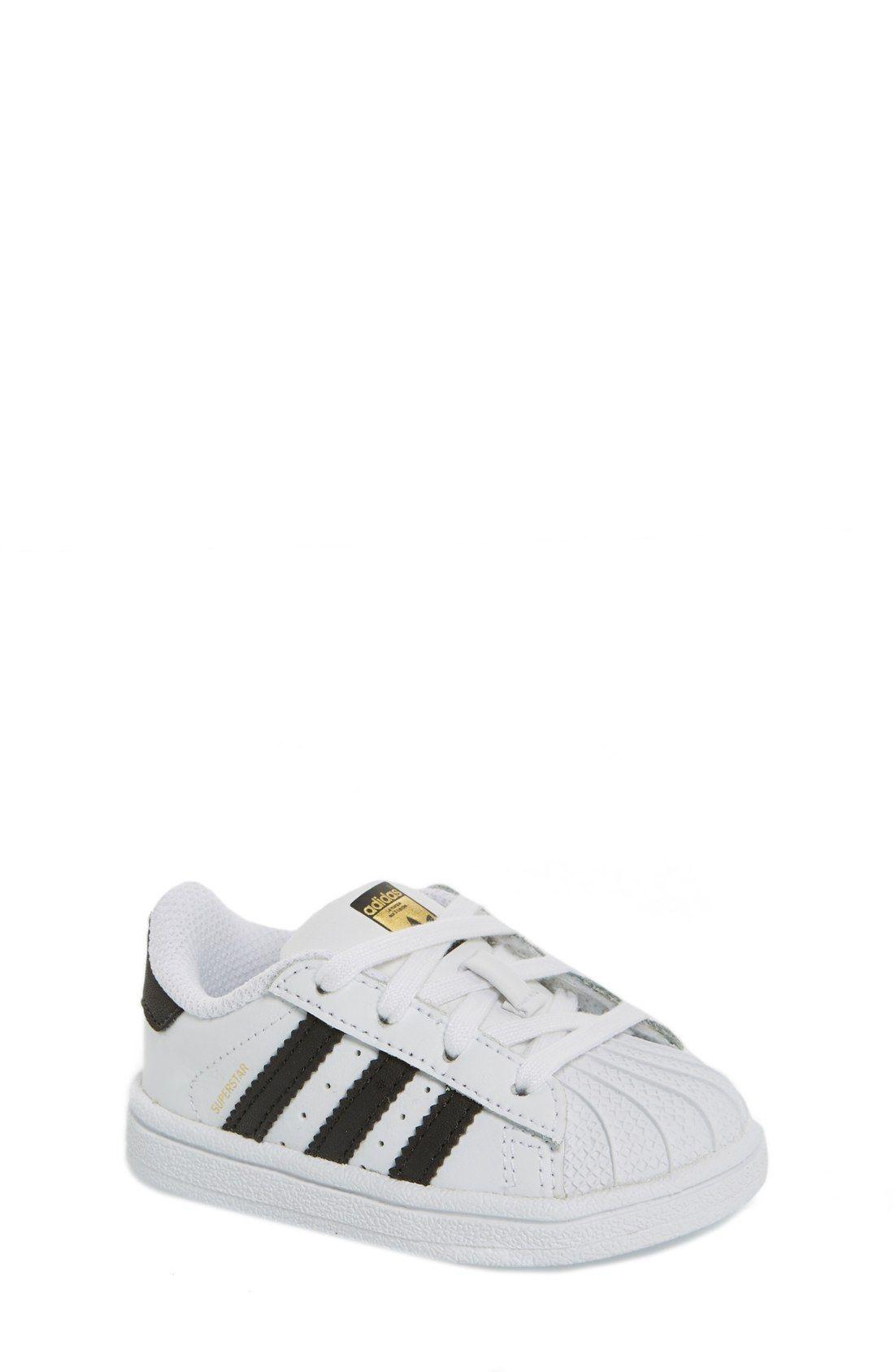 adidas 'Superstar' Sneaker (Baby, Walker & Toddler)