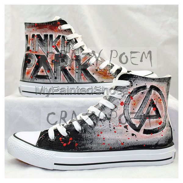 21865ca63240 Linkin Park High Quality Hand Painted Shoes Best Presents for Me ...