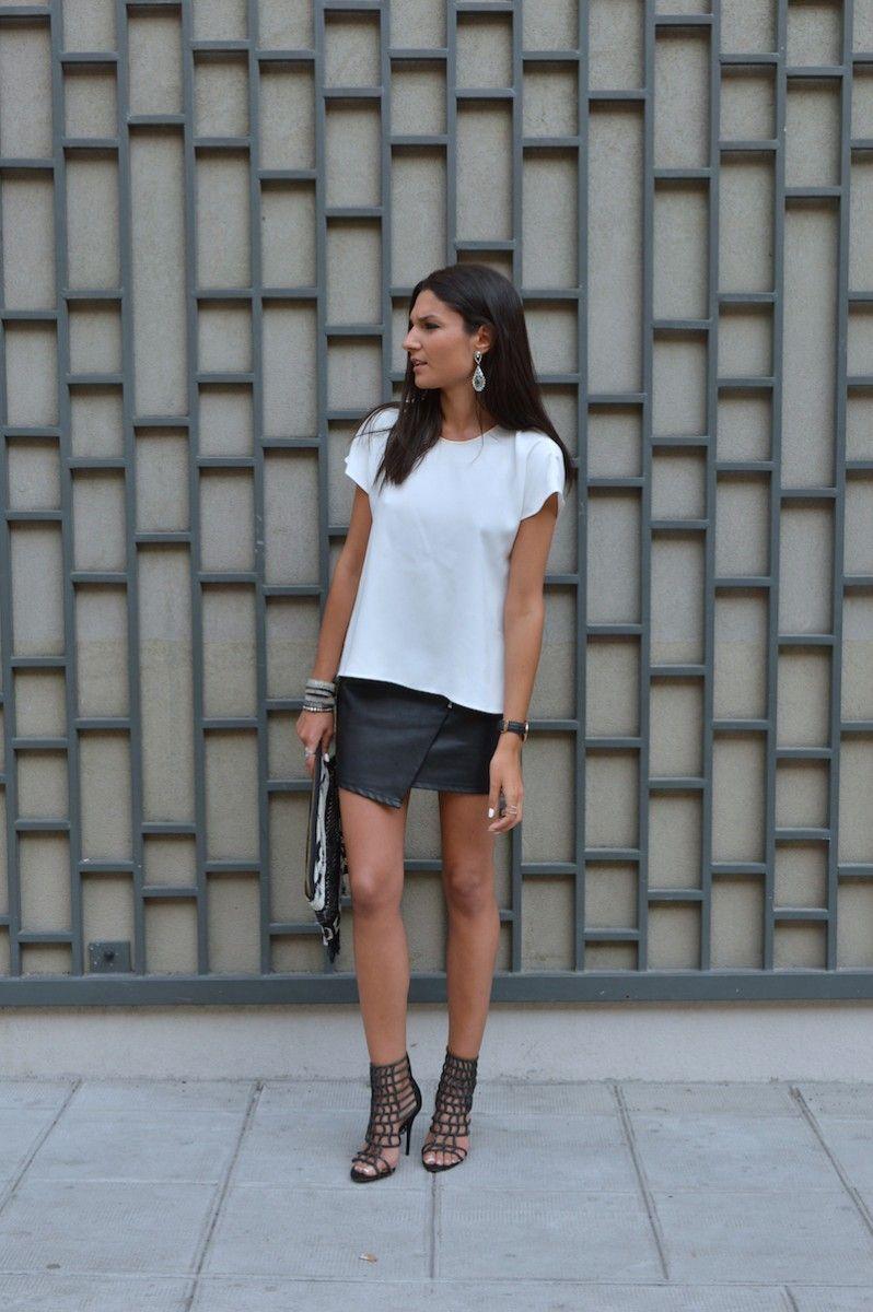 June sixty five tenue du soir jupe en cuir looks - Tenue avec jupe en cuir ...