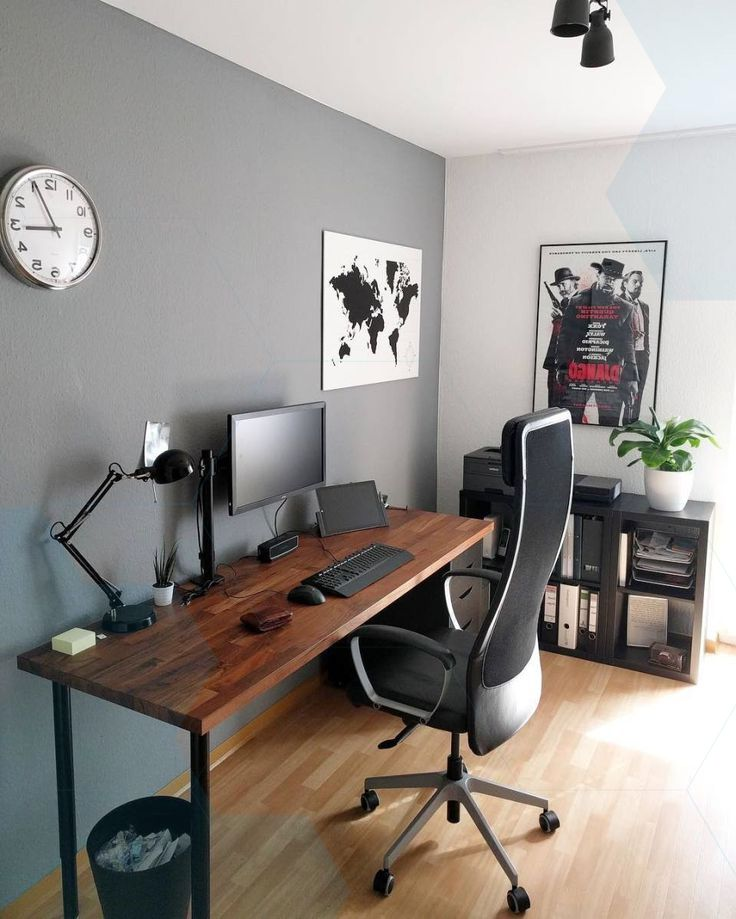 Home Office Decorating Ideas For Comfortable Workplace: Home Office Setup, Office Furniture Design