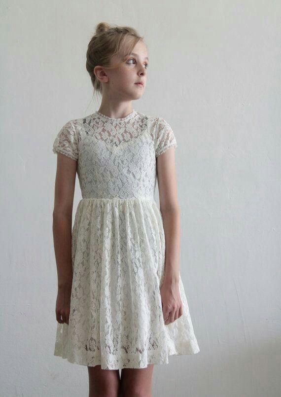 4bf0b411271f Vintage flower girl dress for the older than average flower girl ...