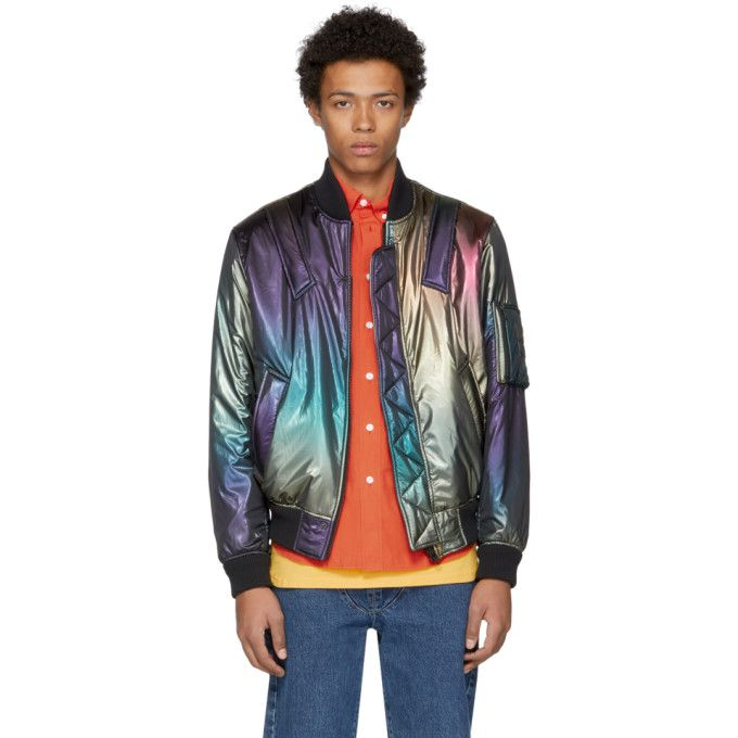 e91f91a86 Kenzo - Multicolor Rainbow Bomber Jacket | pastel space goth ...