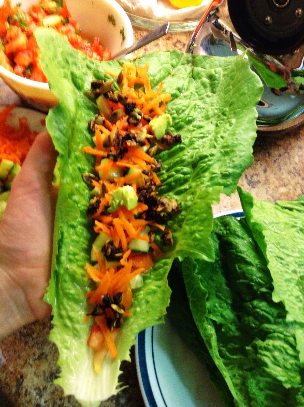Raw Vegan Low Fat Tacos Raw Edibles Healthy Recipes