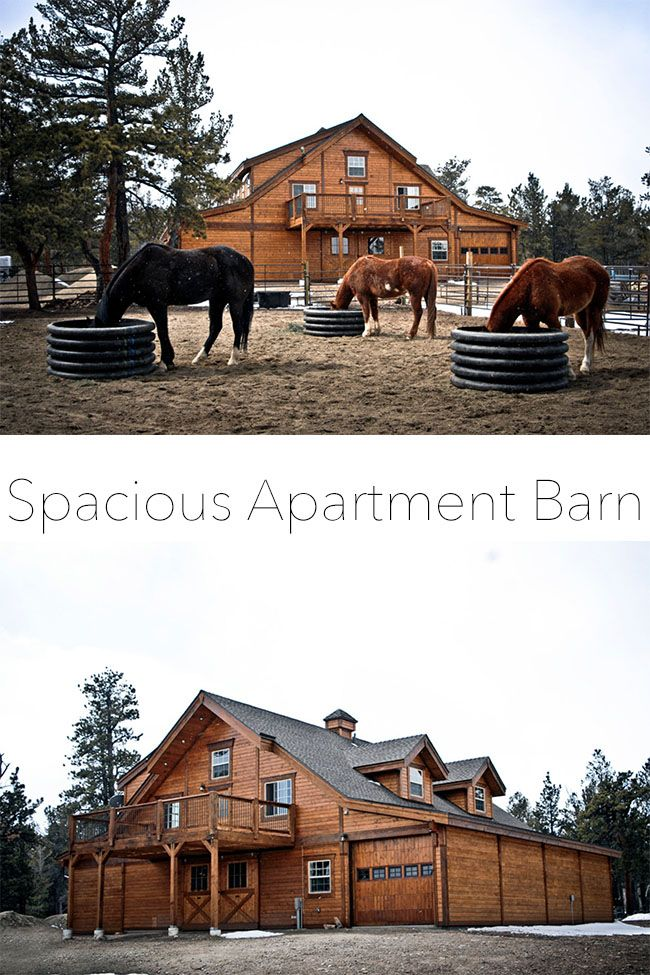 Rustic Colorado Apartment Barn | Apartment living, Barn and Horse