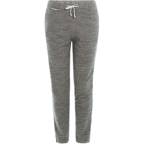 Maison Margiela Cotton Sweatpants (2.645 NOK) ❤ liked on Polyvore featuring activewear, activewear pants, grey, drawstring sweat pants, slim fit sweatpants, tapered sweatpants, gray sweatpants and gray sweat pants