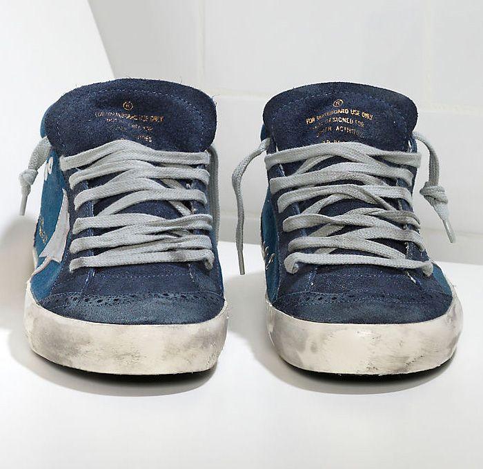 331ec56adf Golden Goose Deluxe Brand Venezia Mens Denim Mid Star Sneakers with ...