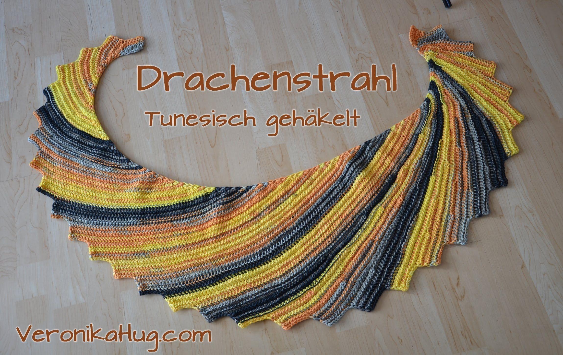 Tunesisch HÄkeln Drachenstrahl - Woolly Hugs BANDY´- Veronika Hug ...