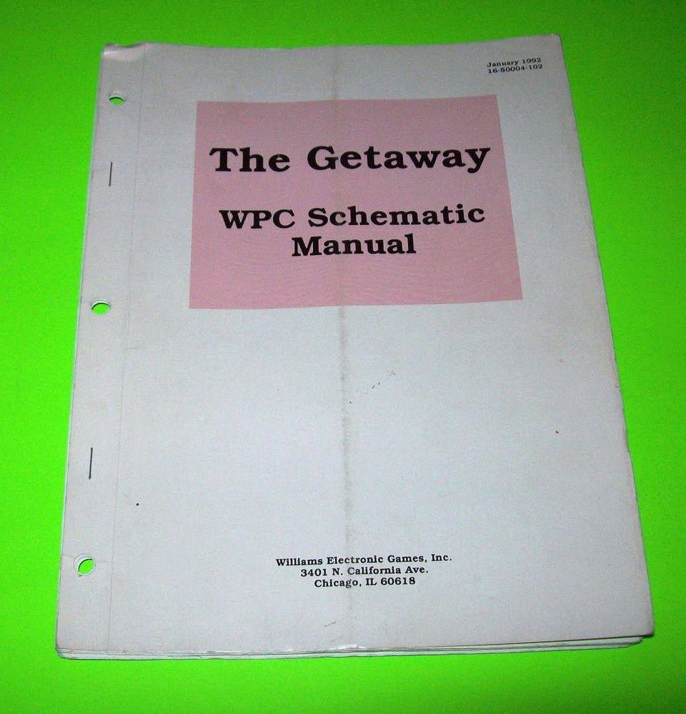 THE GETAWAY By WILLIAMS 1992 ORIGINAL PINBALL MACHINE WPC ...