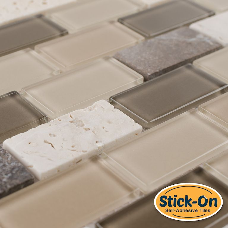 Made Of Real Glass And Stone Not Vinyl The Peel And Stick Rome Glass Mosaic Tile Is A Diy Do It Yoursel Glass Mosaic Tiles Mosaic Glass Diy Bathroom Design
