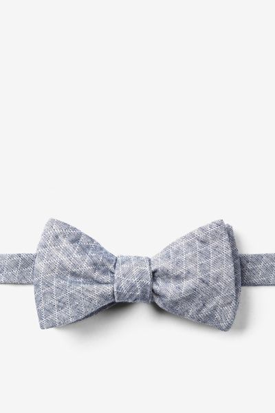 Blue Tangent Butterfly Bow Tie