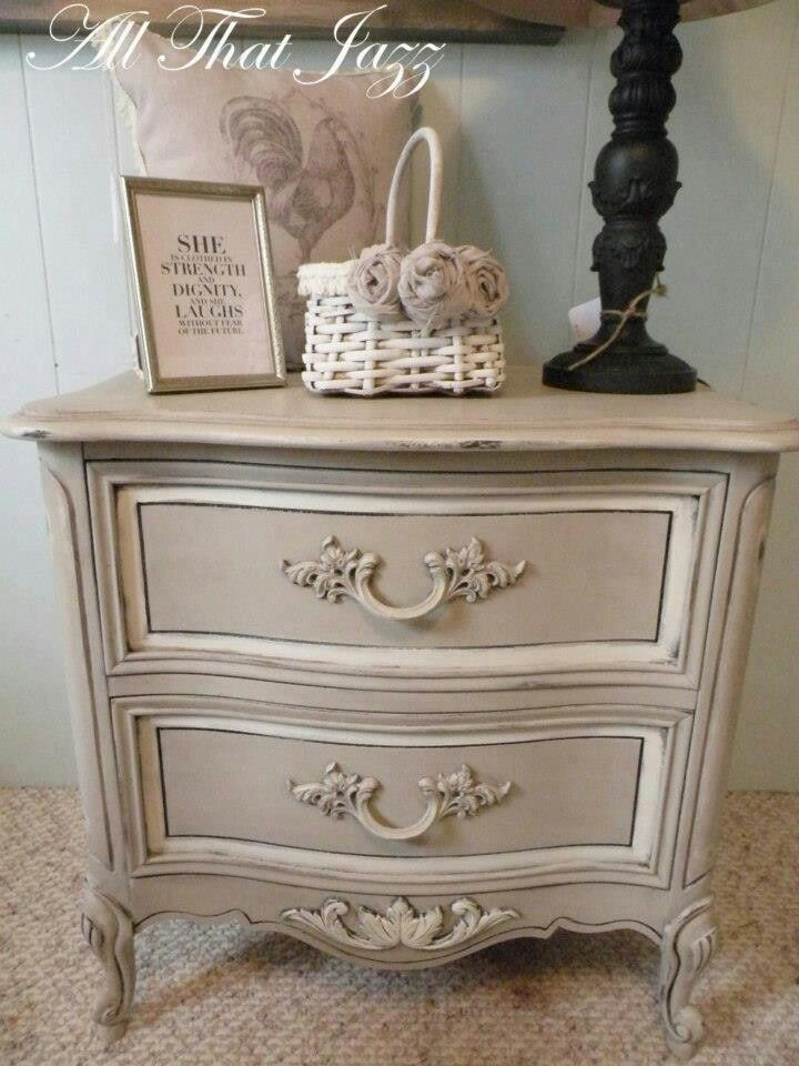 French provential furniture makeover in 2019 - Painted french provincial bedroom furniture ...