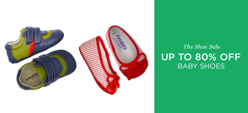 Up to 80% Off: Baby Shoes -   Is there anything sweeter and more adorable than a miniature pair of shoes? We don't think so. This collection of baby shoes features tiny versions of grown-up styles. Mary Janes. Striped ballet flats. Casual moccasins. Your little one is already cute as a button, but get ready for even...  #Blush, #Boot, #ContrastStitching, #CribShoe, #Dress, #Moccasin, #RunningShoe, #Sandal, #SlipOn, #Sneaker