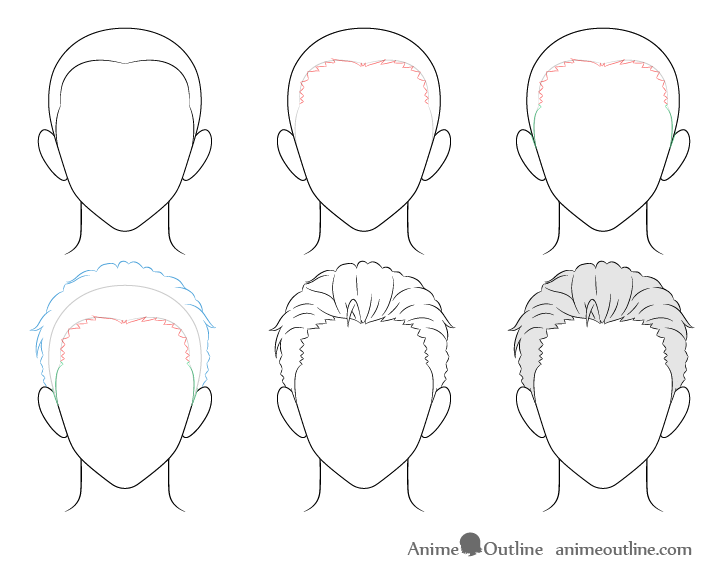 Photo of How to Draw Anime Male Hair Step by Step – AnimeOutline