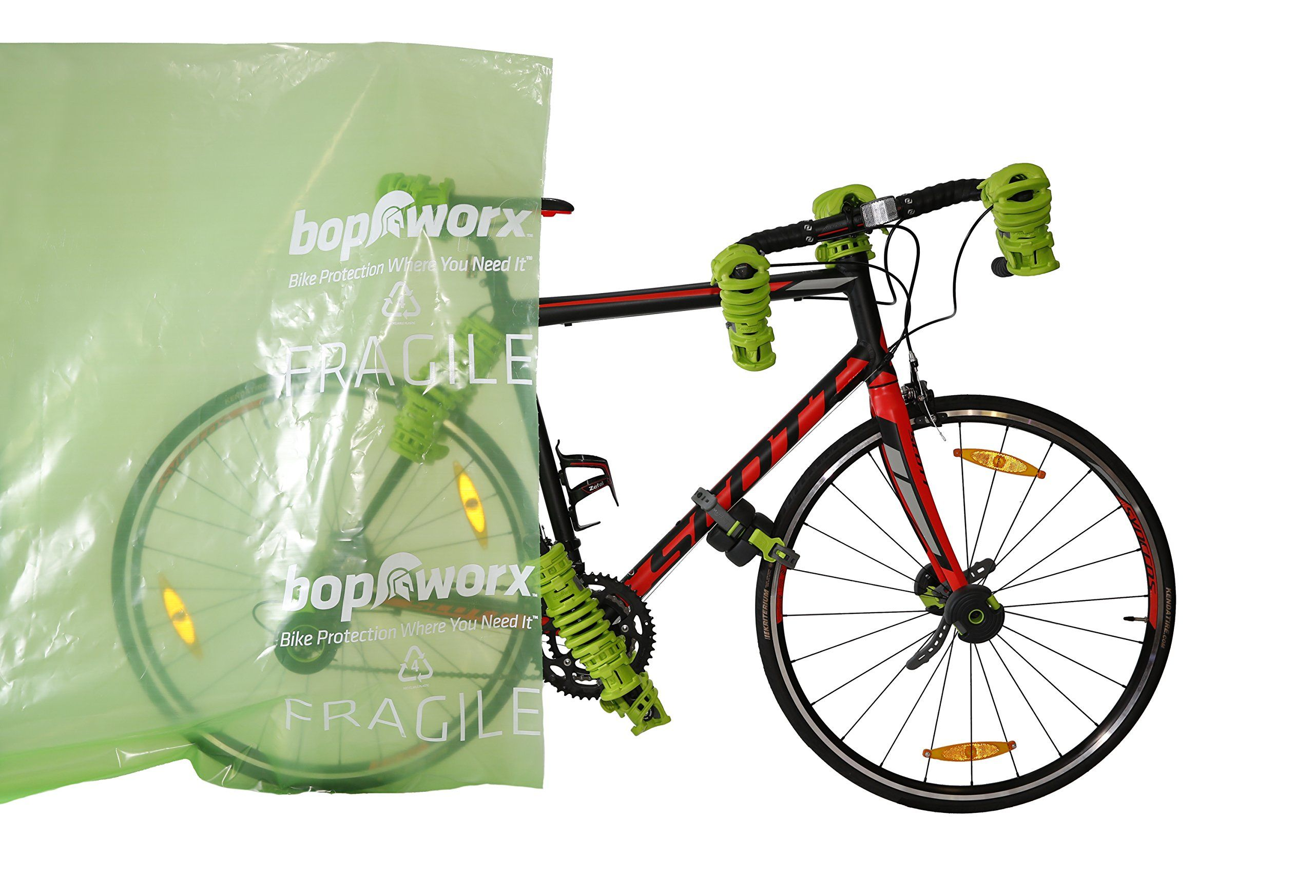 Bopworx Heavy Duty Bicycle Polythene Travel Bag Ideal Cover For
