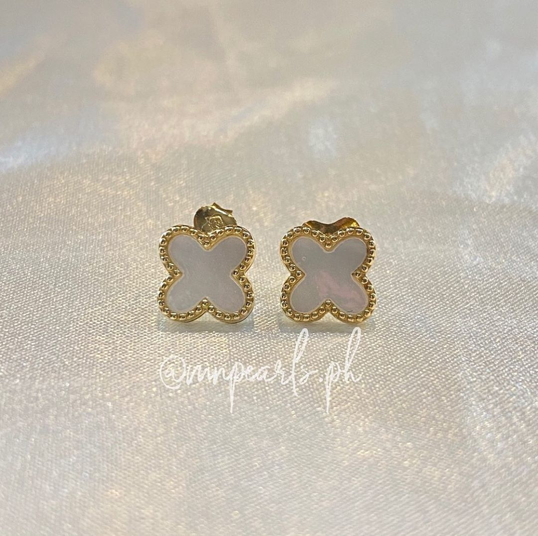 14K Gold Vca Inspired Earrings Make your first purchase