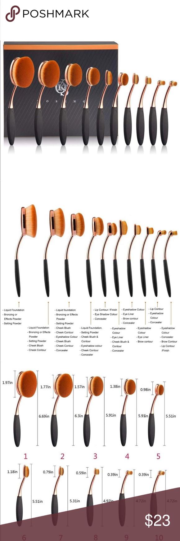 Yoseng Foundation - Set of oval brushes Yoseng cosmetic ...