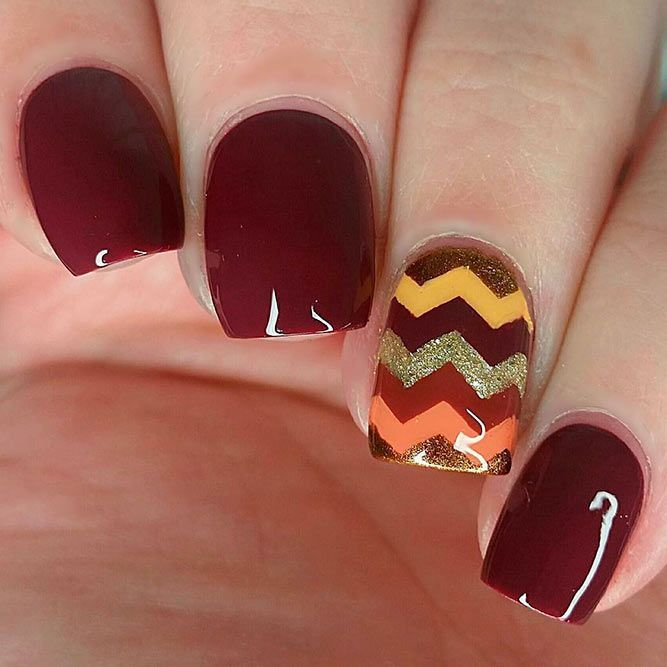 Enjoy our amazing collection of Thanksgiving nails designs for your fall  inspiration. Bring some creative touch into your fall manicure with our  ideas. - 27 Creative Thanksgiving Nails Designs That Will Inspire You All