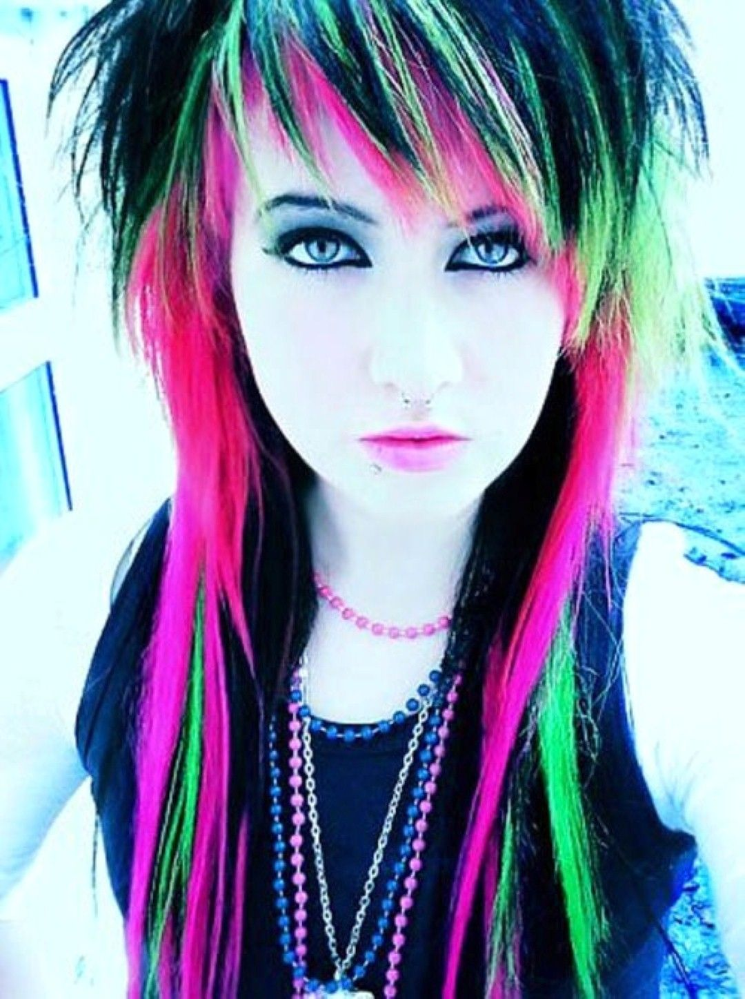 punk rock hairstyles girl … | hair with flare in 2019…