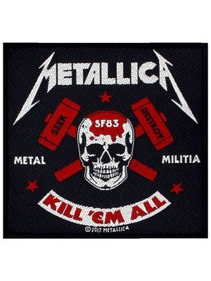 Metallica metal militia patch thrash metal metallica and metals