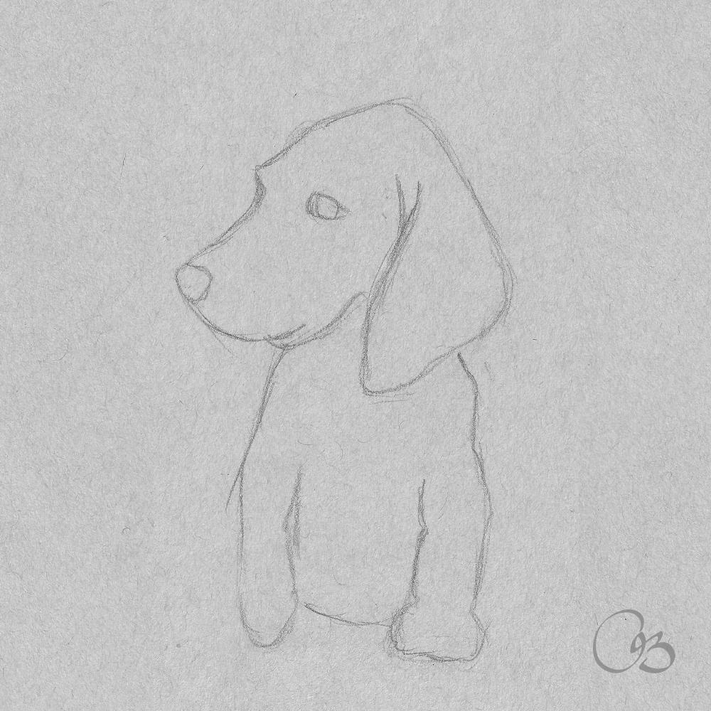 Dog Sketch Drawing Dog Sketch Drawing Sketches Drawings